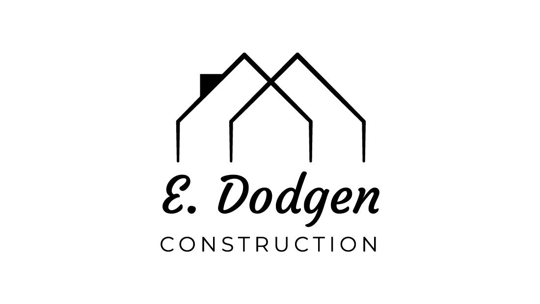 E Dodgen Construction Logo Design