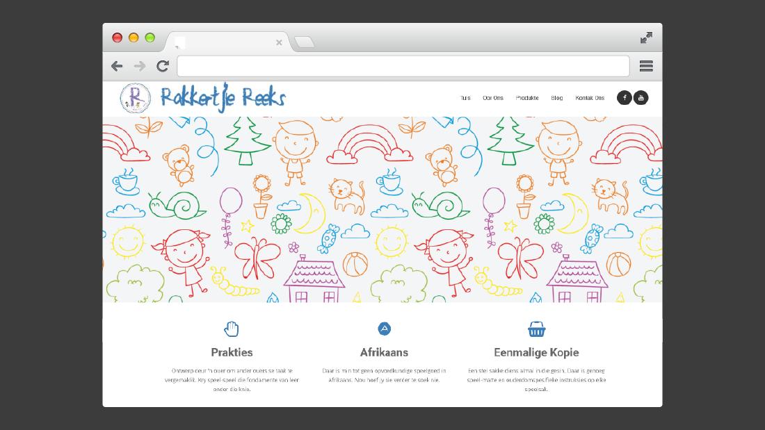 Rakkertjie Reeks Website Design